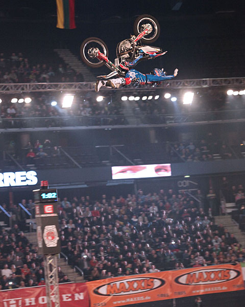 Dany Torres placing 2nd at NIGHT of the JUMPs in Luthuania 2013