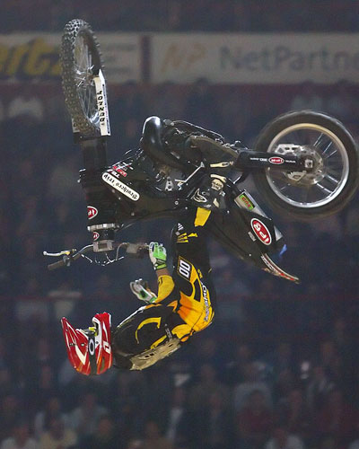 FMX rotor bike - barspin backflip