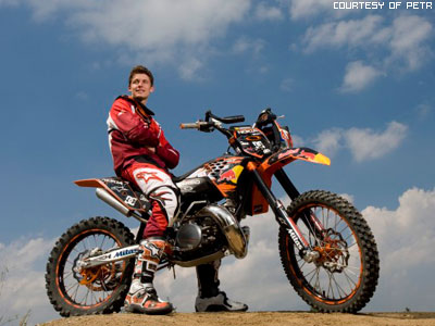 MX Rider Veering Point-blank Of Sand With A Large Plume Out From ...